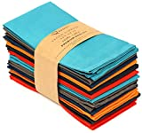 Ruvanti Multi Color Cloth Napkins 12 Pack (18'X18') Durable Linen Napkins - Soft and Comfortable...