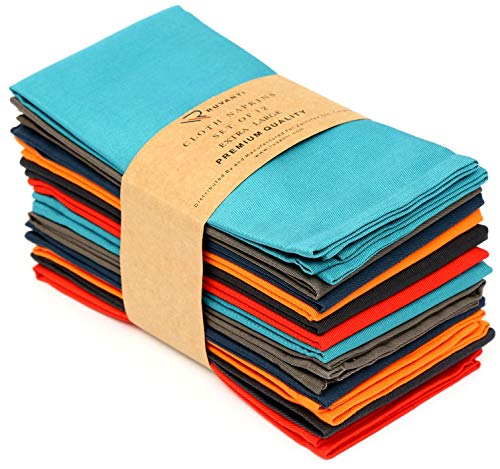Ruvanti Multi Color Cloth Napkins 12 Pack (18