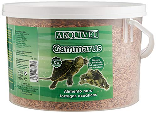 Arquivet Gammarus - Comida Tortugas - Alimentación Natural para Tortugas acuáticas - Alimento Completo para Tortugas de Agua - Alimento Flotante Tortugas - 900 gr - 7.500 ml