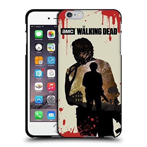 Head Case Designs Oficial AMC The Walking Dead Glenn Siluetas Funda de Gel Negro Compatible con Apple iPhone 6 Plus/iPhone 6s Plus