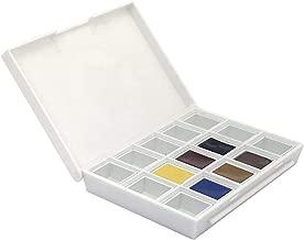 Daniel Smith Hand Poured Watercolor Half Pan Set of 6, with Bonus 9 Empty Half Pans, Sketcher Set (285650005)