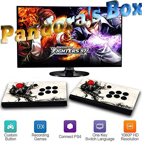 Pandora's Box 3D Home Arcade Game Console | 2350 Retro HD-spellen | Full HD-video | Spelbesturingen voor 2 spelers | Ondersteuning Multiplayer Online | HDMI/VGA/USB/AUX audio-uitgang