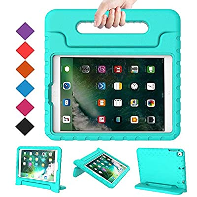 BMOUO Case for New iPad 9.7 Inch 2018/2017 - Shockproof Case Light Weight Kids Case Cover Handle Stand Case for iPad 9.7 Inch 2017/2018 (iPad 5th and 6th Generation) Previous Model - Turquoise from BMOUO