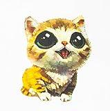 MissBirdler Parche de tela con diseño de gato y gatito, para ropa, aplicación con plancha, 20 x 15 cm