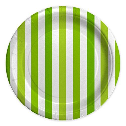 Piatti di Carta 8 pz Stripes Verde Mela (24 cm)