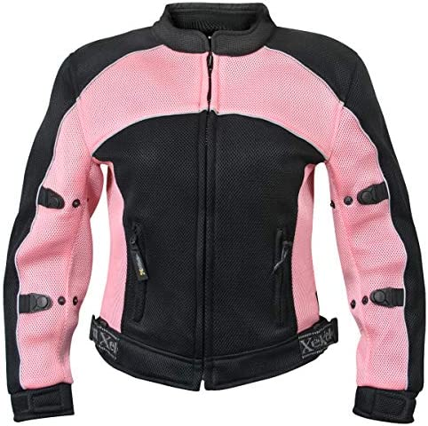Xelement CF508 Women s Guardian Black and Pink Mesh Jacket with X Armor Protection X Large product image