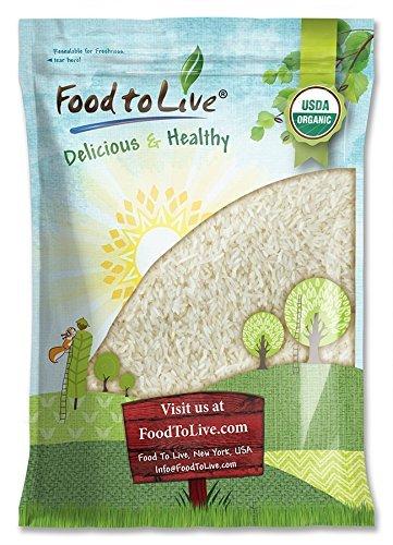 Organic Jasmine Rice, 10 Pounds - Raw White Rice, Whole Grain, Non-GMO, Kosher, Bulk