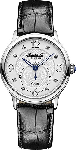 Ingersoll Women's INQ022WHSL Regent Analog Display Japanese Quartz Black Watch