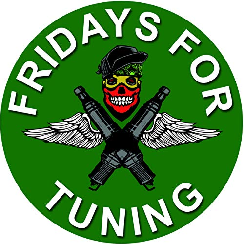 Fridays for Tuning Autoaufkleber - Fuck You Greta Aufkleber - es reicht Dirty Diesel Sticker Autoaufkleber Zündkerzen Tuining Sticker HUBRAUM Autotuning CO 2 Skandal