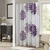 Comfort Spaces Enya Bathroom Shower Curtain Floral Printed Cute Chic Microfiber Fabric Bath...