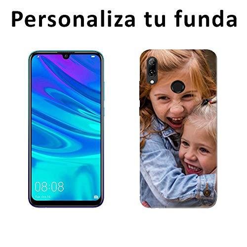 Mookase Funda Carcasa Personalizada para tu móvil Huawei con Foto, Imagen o Texto. Flexible, Bordes Transparentes (P Smart 2019, Gel Flexible)