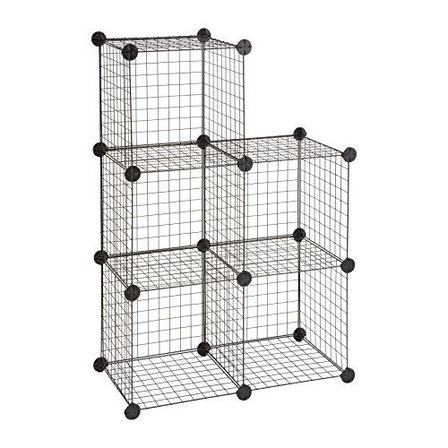Safco Wire kubus voor opslag - zwart