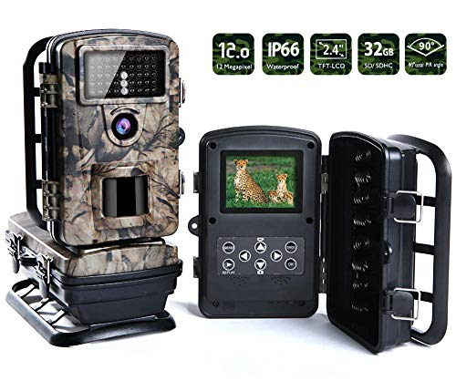 Trail Camera Wireless Camera Hunting Scouting Camera Wildlife Camera for night vision IP66 Waterproof Game Camera|12MP|65ft