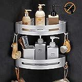 Étagère d'angle Douche, Bogeer Etagere salle de bain sans percage, Aluminium Panier...