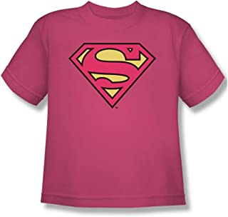 Dc Comics Pinky Shield Big Boys T-Shirt in Hot Pink Sheer