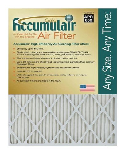 Accumulair FB15.25X15.25X2A Gold free 2 Of Filteramp;#44; In. Pack Limited time trial price