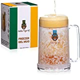 Double-Wall Beer Mugs for Freezer – Gel-Insulated, Freezable Beer Glasses with Color-Changing Logo – 16 Oz., BPA-Free Freezer Mugs With Gel for Ice-Cold Beer and Beverages by Celtic Tiger NJ