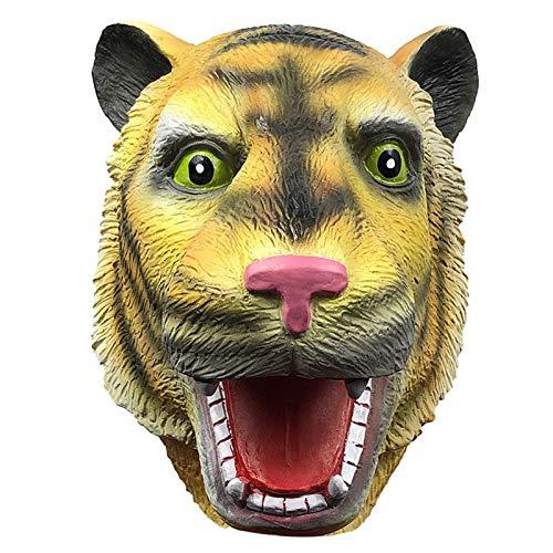 POOO Mscara de Sombrero de Tigre de Parodia de Terror, Sombrero de Animal Divertido para Fiesta de Disfraces, Accesorios de actuacin de Fiesta de Halloween