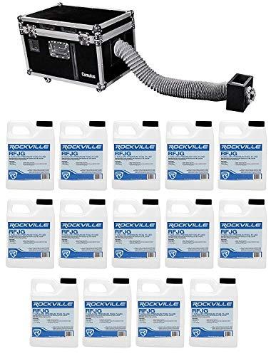 Chauvet DJ Cumulus Fog Machine Pro DMX Fogger w/Road Case + (14) Gallons Fluid