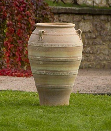 Kreta-keramiek vorstbestendige terracotta amfore met handvat, handgemaakt, kleivaas ideaal voor de tuin of als decoratie, Olea verschillende maten 50-110 cm Olea 100 cm