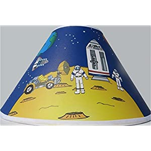 Outer Space Lamp Shade Planets Children's Nursery Space Decor