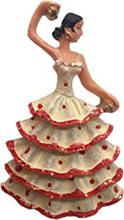 Flamenco Dancer Gypsies in Andalusia Spain Resin 3D Strong Fridge Magnet Souvenir Tourist Gift Chinese Magnet Hand Made Craft Creative Home and Kitchen Decoration Magnetic Sticker (Black)