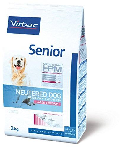 Virbac Veterinary HPM Vet Dog Senior Neutered M/L Nourriture pour Chien 12 kg