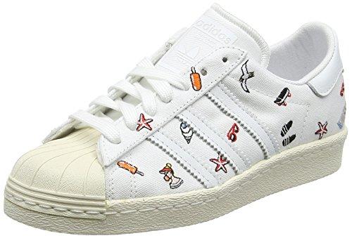 adidas Damen Superstar 80S Sneaker, Elfenbein Footwear White Footwear White Off White, 42 EU
