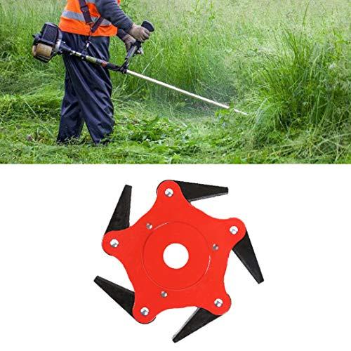5 T Blade Rode Mangaan Staal Scheermes Maaier Grastrimmer Hoofd Mes Voor Tuin Gazon Machine Accessoires Power Tools Gemakkelijk Cut