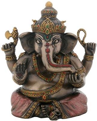 Hindu Hinduism Deity Elephant God Ganesha Ganesh Statue Remover of Obstacles Statue Figurine