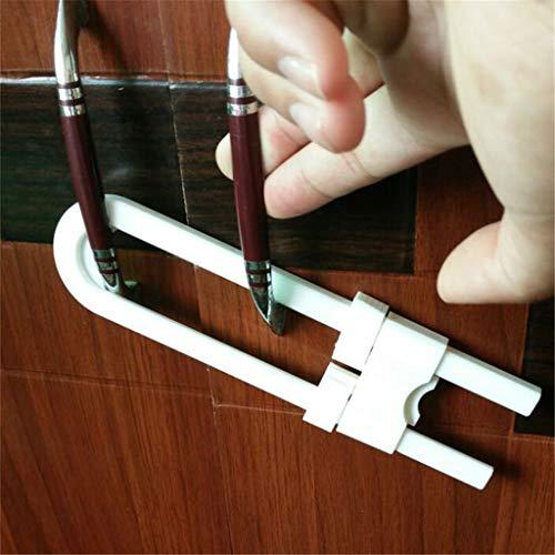 4PC Sliding Cabinet Locks for Child Safety U Shaped Baby Safety Locks Doors, Christmas Decor Tree Ornaments