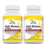 Terry Naturally Hair Renew Formula (2 Pack) - 60 Softgels - Supports Healthy Hair Growth, Nourishes Thinning Hair, Contains Millet Seed Oil, Horsetail, Biotin & Folic Acid - Gluten-Free - 60 Servings