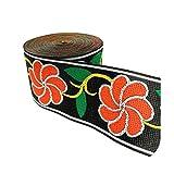 Cinta de encaje estilo vintage con bordado étnico de 5 cm, 19, Size