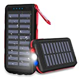 Power Bank Portable Phone Charger solar charge 25000mAh Huge Capacity Water-Resistant 3 Output