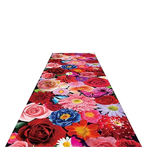Tapis coureur Coureurs De Tapis De Magasin De Fleur, Coureur De Plancher Non Glissant pour La Butée De Saleté De Salle De Promenade De Cuisine, 0.6cm Épais (Size : 1.2x4m)