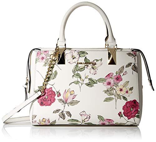 Karl Lagerfeld Paris Damen Satchel Kendall, Schultertasche, Mehrfarbiges Blumenmuster, Einheitsgröße