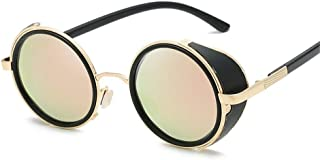 SGJFZD Outdoor Seaside Sunscreen UV400 Quality Ladies' Polarized Sunglasses Trendy Sporting Large Frame Elegant Sunglasses Vintage Retro Round (Color : Gold Powder)