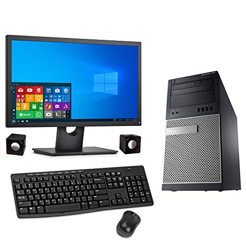 DELL OPTIPLEX 7010 DESKTOP i5-3470 QUAD CORE i5 16GB RAM 240GB SSD + 500GB HDD WiFi 24in MONITOR WINDOWS 10 64BIT