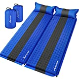 MOVTOTOP Sleeping Pad for Camping, Foam Camping Mattress Self-Inflating Ultralight Thicken Camping Pad with Attached Pillow, Perfect Gear for Hiking, Traveling and Backpacking