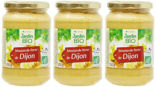 Jardin Bio Moutarde Forte de Dijon Bocal 350 g - Lot de 3