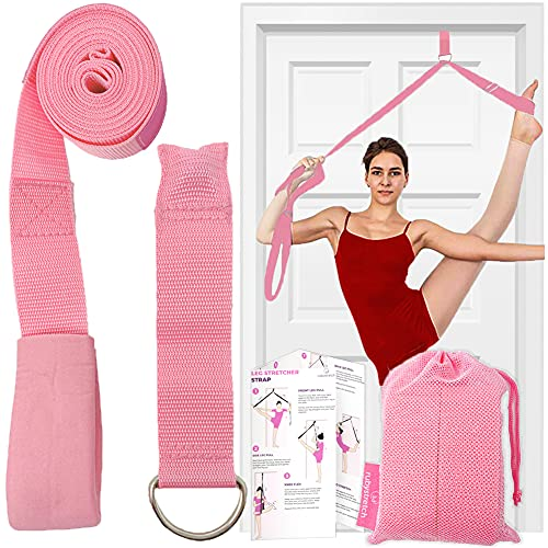 Leg Stretcher Strap – Adjustable Ballet Stretch Strap with Door Anchor to Improve Flexibility, Easy to Install Split Trainer Stretching Equipment for Ballet, Dance, Yoga, Gymnastics or Cheer