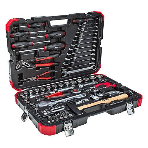 GEDORE red Steckschlüsselsatz, 100-teilig, Mit Umschaltknarre, Ratsche, Steckschlüssel und Bitsatz, Hammer, Ringmaulschlüssel und Zangen - 5