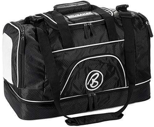 BRUBAKER - Sac de Sport XXL 'Big Base' - Spacieux & Robuste - 90L - Noir