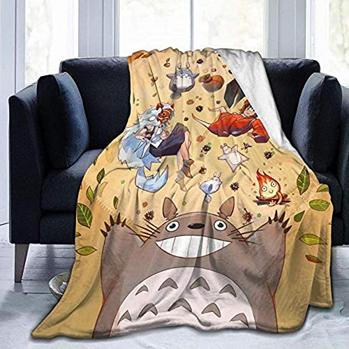 HSBZLH Mantas De Bebe Totoro Throw Blanket Manta Cálida Felpa Ultra Suave para Sofá Cama Y Sa Estar Idea Regalo Medium 60X50 In For Teens