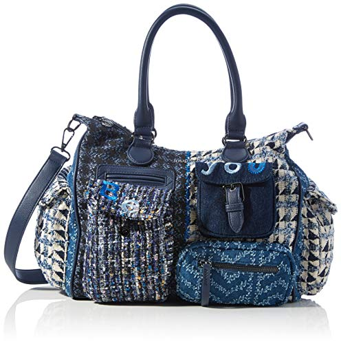 Desigual Accessories Fabric Shoulder Bag, Sac Femme, Bleu, U