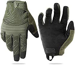 AXBXCX Touch Screen Tactical Gloves Men Shooting Gloves Protection for Airsoft Paintball Driving Motorcycle Hunting Hiking Sports Green Medium