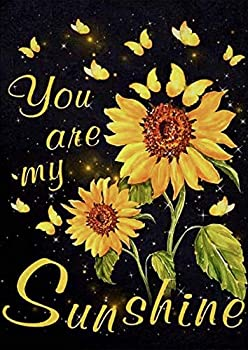 DIY 5D Diamond Painting Kits for Adults Sunflower Wordart Full Drill DIY Diamond Art Cross Stitch Paint by Numbers for Home Wall Decor You are My Sunshine by MVVMTOP Sunflowers,30x40cm/11.8x15.8in