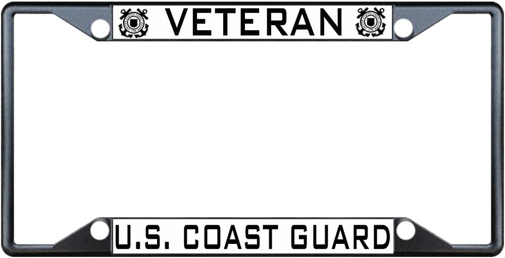Fastasticdeals Veteran U.S. Coast Challenge the lowest price of Japan ☆ Guard Tag Baltimore Mall License Frame Plate