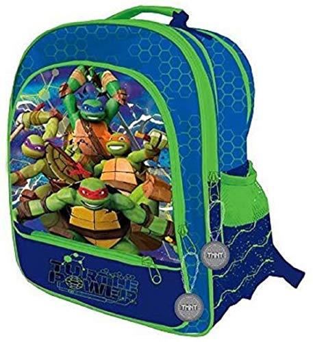 Les Tortues Ninja: Mochila grande  diseño de tortuga con 4 cremalleras