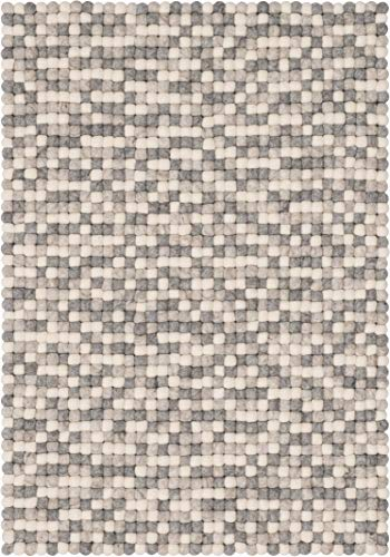 myfelt Hella Filzkugelteppich — 50x70cm, rechteckig — Weiß